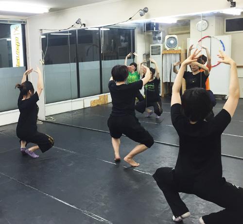 dance lesson scene